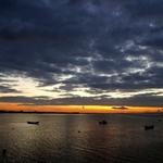 Pôr-do-sol em Alcochete.