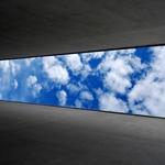 I want a blue and white sky