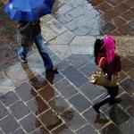 À chuva no Y