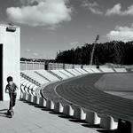 Eu, o estádio e a minha trotinete___
