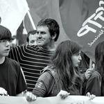 Jovens em protesto