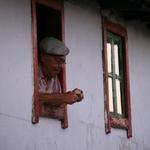 Um naco de pão a janela