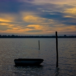 O Barco, a Gaivota e o Por do Sol