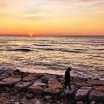 Walking through the sunset