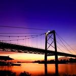 Twilight at Barito Bridge