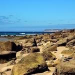 Praia de pedras..