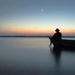 dusk on canoe