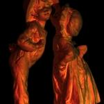 Pintar com Luz -O beijo em cobre