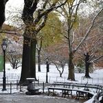 A primeira neve de outono
