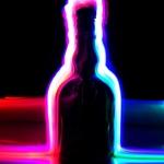 Garrafa - Luz e cor