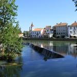 Cidade de Tomar e o rio Nabão_