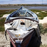 Barco em terra seca em Comporta!!