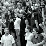 Protestos encenados___