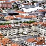 Praça da Figueira vista do castelo de S.Jorge
