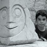 Eu e a estátua___