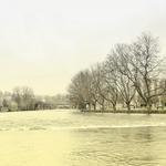 O rio e as cheias