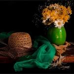 Ensaio com lenço verde