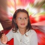 A Raquel no dia da 1ª comunhão