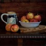Esboço com maçãs