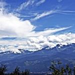 As montanhas a tocarem o céu!