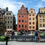 Estocolmo com sua típicas arquitetura.....