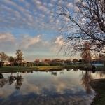 O lago do parque