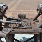 Uma longa partida de xadrez