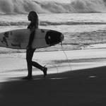 Azorean surfer girl .