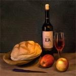 Ensaio com pão e vinho