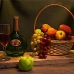 Ensaio fotográfico com frutas