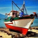 Composição com barco