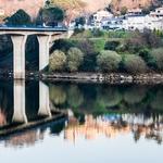 Canaveses reflectida no Rio Tâmega