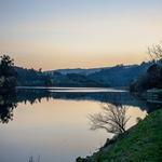 Fim de tarde de inverno no rio Tâmega