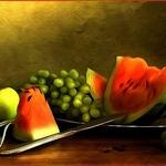 Esboço com frutas