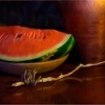 Ensaio com melancia