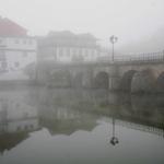 A nevoa na Ponte de Trajano