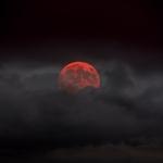 O nascer da lua vermelha