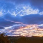 O Pôr do Sol de 1 de Novembro, da varanda