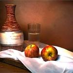 Ensaio com maçãs