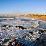 A praia em Dezembro