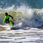 Surf na praia da Torre