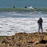 A fotografa, os cães e os surfistas
