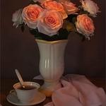 Ensaio com rosas