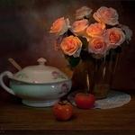 Composição com flores
