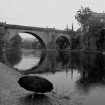 The bridge and the umbrella___