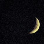 Lua em noite estrelada