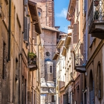 Pelas ruas de Pavia.