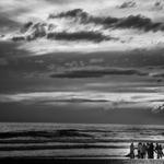 Arte xávega-Pescando na esquina do mar