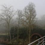 Azenha com nevoeiro