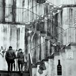 A escadaria...